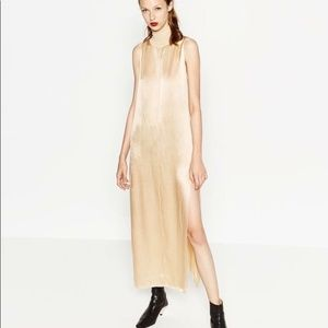 Zara Gold Maxi Dress, size small